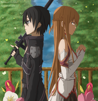 Kirito and Asuna: We Are Going To Win This Game! by Rikimaru-Uchiha