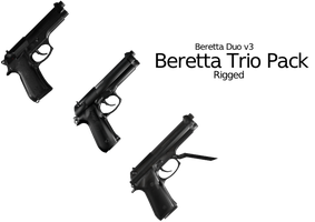Beretta Trio Pack - Rigged by ProgammerNetwork