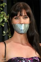 Sarah Lancaster_gagged_by_PhM by PhMBond