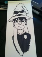 Harry Potter and Sorting Hat by pascalscribbles