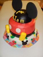 Mickey Mouse Cake 1 by emodicon