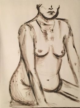 Nude Female Figure #1 by Nathan-Brice-Art