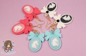 Unicorn Princess Earrings by PeppermintPuff