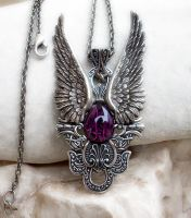 Dark Angel Pendant -Purple1 by Aranwen