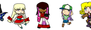 E . X . P charater chibis by YouAskMeFirst2