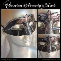 Venetian Femme Assassin Mask by Angelic-Artisan