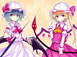 touhou project:Scarlet sisters by yodori