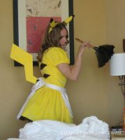 Pikachu Maid at AWA 2 by SailorEarth316