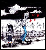 young goth girl and jump by Jump-Button