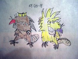 Angry Beavers: Daggett and Norbert by Vyel