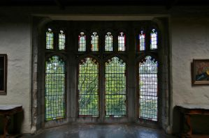 Montsalvat meeting hall windows 1 by Dewfooter