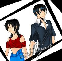 Luffy and Robin GendBend Color by xox1melly1xox