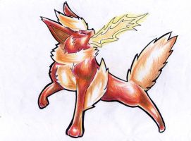 Flareon for Darkshine by OCEANSCENTED