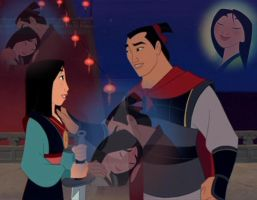 Mulan and Shang by EairnRedLove