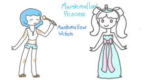 Marhmallow Princess and Marshmallow Witch by Hiilumaru