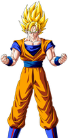 Gokku ssj 1 cs by maffo1989