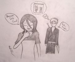 Happichappi: Rukia and Ichigo by DarkPhazon395