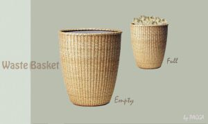 Waste basket - empty+full by PAGGA