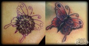 Butterfly cover up by state-of-art-tattoo