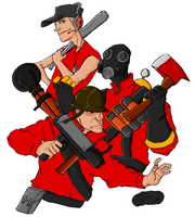 Team Fortress 2 - The Offense by Toxic-Tooth-Paste
