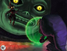 Majora's Mask: Skullkid vs Dekulink by PunkBoyLeech