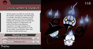 Nintober #118. Litwick, Lampent and Chandelure by fryguy64