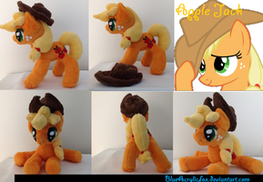 AppleJack plushie,...(PLUSHIES ON EVERYPONY!) by BlueAcrylicFox