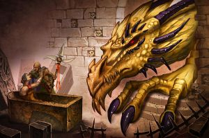 Possessed Gold Dragon by MichaelJaecks
