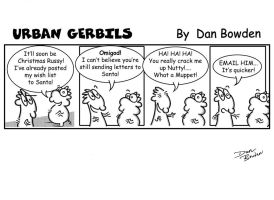 Urban Gerbils. Santa strip by DannoGerbil