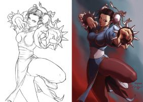 SF Tribute- Chun li by hendryzero