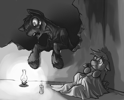 Ghoul and a Foal by Kalemon