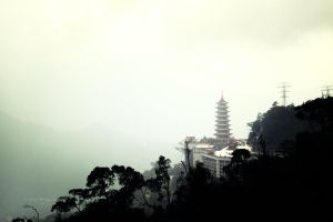 Pagoda in a Distance by Destroth