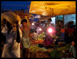 Morning Market in Trichy by Harlequinesque84