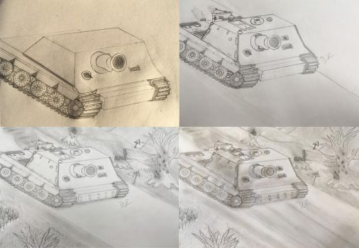 Sturmtiger (collage) by P72-Deltacommander