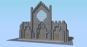 Minecraft Cathedral - WIP by andrei030