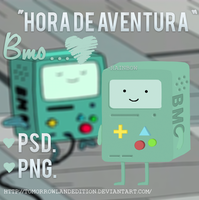 BMO PSD. y PNG. (hora de aventura) by TomorrowLandEdition