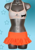 Hooters Uniform Rave Outfit by Lolanova