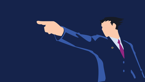 Phoenix Wright Minimalist Wallpaper by Oldhat104