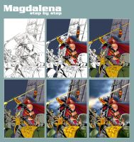 Step by step of Magdalena by prie610