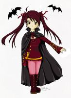 vampire girl with cape by yoco-chan