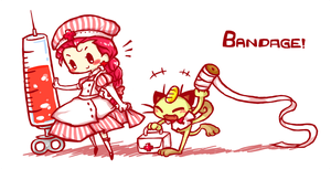 bandage time by Cindysuke