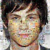 Logan Lerman Mosaic by Cornejo-Sanchez