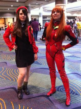 Megacon 2013: Misato and Asuka by the-iron-sea