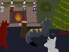 Christmas Wolves by TripleThreat682