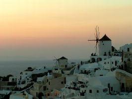 Snapshots - Oia Sunset by Papillions