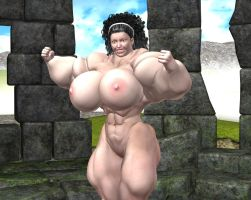 Stone Sanctuary Female Muscle Growth Animation by grycat20