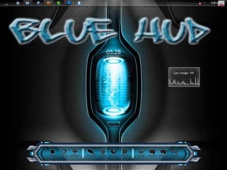 Blue HUD by Mafia-007