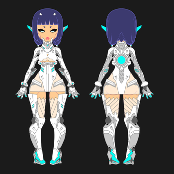Sapphix Model Final WIP by leviathen