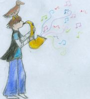 saxamaphone and duck by stopthinkmove