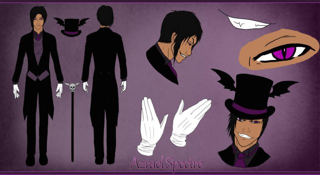 Azrael Spectre reference sheet by melina678